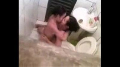 Spying my lesbian sister in bathroom with girlfriend. Great ! - 1 min 33 sec