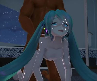 3D MMD Slut Miku Rough Fuck - Little Scarlet Bad Girl