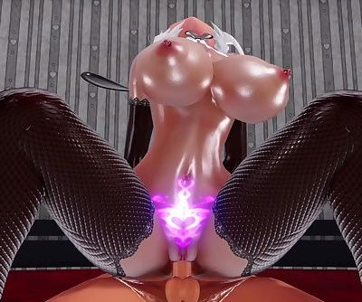 3D MMD Tanned & Sexy Haku Gets Banged in Excuse Me