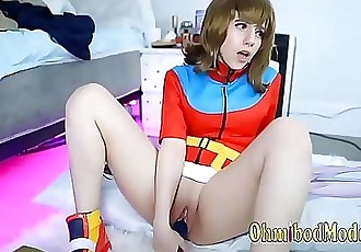 Pokemon Cosplay Girl Fucks her Smooth Wet Pussy 4 min HD