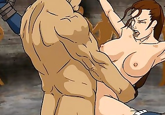 Game Over Girls: Lara Croft - Violated - Image Loop