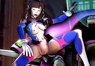 Overwatch Reverse Cowgirl Animated 5 min