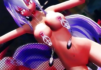 3D MMD Body to Body Haku Gagged and Dildoed