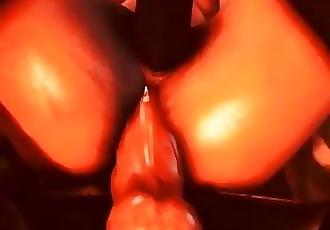 Gangbang assault in porn game