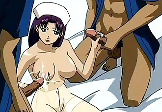 Anime threesome and lesbian sex with toys - 7 min