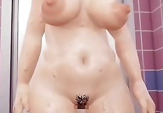 A slovenly sexy physical daughter serves it in a bathroom 23 min