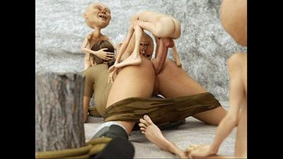 3d comic disgusting-fat-and-ugly-monste. Adorable horny babe.. - 8 min