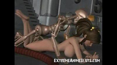 Robot Fucks 3d Teen! - 3 min