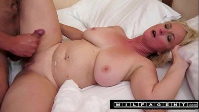 Busty grandma Monik takes young cock...milfagent.com - 5 min