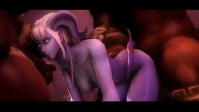 3d draenei orgy slave - 15 min