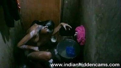 Bangladeshi Indian Young Girl Taking Shower - 2 min