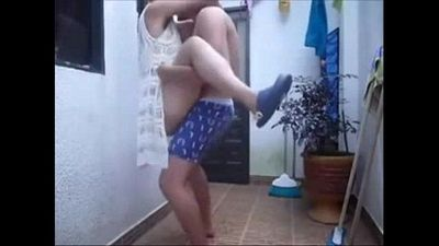 Newly married indian couple fucking on hosue roof in rain - hornyanu - 1 min 10 sec