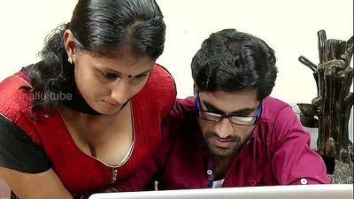 Desi telugu young girl hot romance at office - 3 min