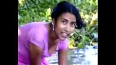 village girl bathing in river showing assets www.favoritevideos.in - 3 min