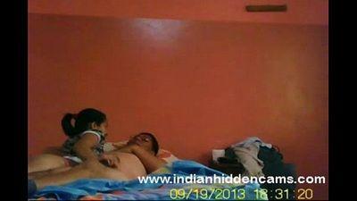 horny indian bhabhi sex fucking her man who watching porn - 5 min