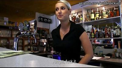 Super Hot Bartender Fucked for CASH! - http://tinyurl.com/fuckoncams - 8 min