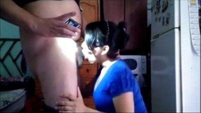 horny amateur indian bhabhi sucking a plumber cock - 4 min