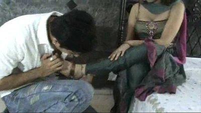 Indian model in churidar foot worship - 16 min