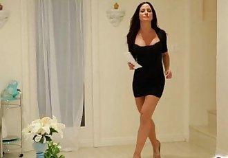 Kristen Scott sucking on Angela Sommers big tits