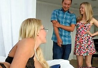 Jennifer Best and Karla Kush shared BF in the bedroom