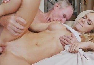 Dirty Old Man Drilling Pretty Blonde Teen Molly Mae
