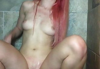 Shower with my big toy, Little Candyland