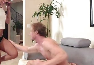 Hot and brunette Gabriella Ford gets hammered her dads friend