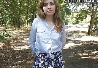 shy teen does porn castingHD