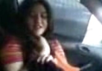 PAKISTANI - Cute College Girl Nimra with Bd in His CAR