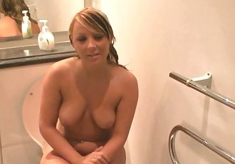 Becky - Bathroom quick jerk off