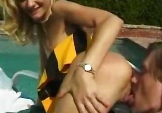 Cock Sucking Cheerleader Gets Nailed