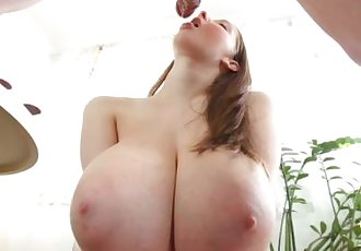 Busty Buffy fingered and fucked from behind
