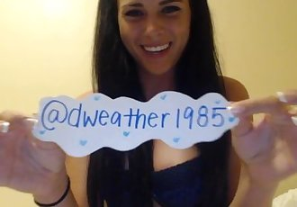 Kaley Kade Gives Special Thanks to her Fan Dweather