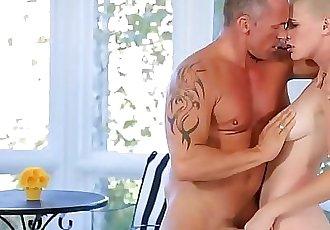 Shaved Blonde Teen Fucks Best Friends Dad 7 min HD