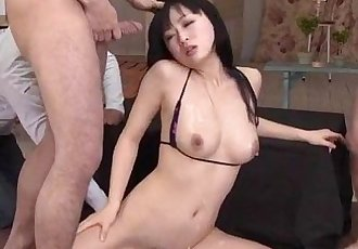Nozomi Hatsuki looks dashing with her pussy nailed right - 12 min