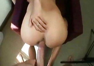 Blonde babe ass fucked on homemade
