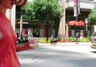 Hot Girl Braless Sideboob On Street