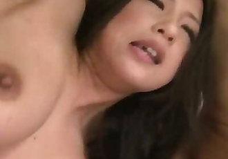 Dirty threesome porn along bustySatomi Suzuki