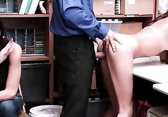 Petite Latina Teen Daughter Caught Shoplifting Fucked By Guard In Front Of Her Mom 8 min 720p