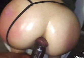 White bitch apologizes for turning me on while I'm screwing her with my bbc