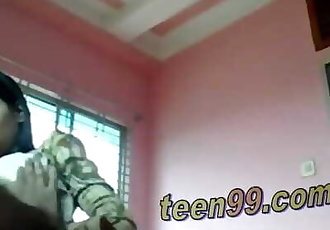 Desi indian Lovers having fun in a village room - www.teem99.com