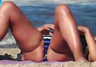 Nudist Milfs Naked at Beach Spycam Voyeur Close-up