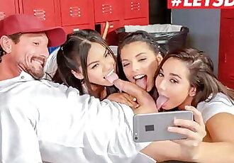 Scam Angels - Gina Valentina, Karlee Grey and Cindy Starfall Hot American Teens Fuck their Coach