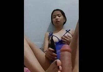 Feet POV Footjob and Play with Vibrator 18yo Filipina Teen - MiaMendozaOfficial