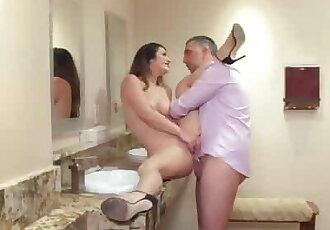 Eva Lovia Gets Pounded in the Bathroom - Brazzers