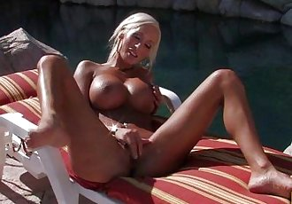 Big Boobie Lesbians Get Wet & Fuck Poolside