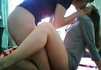 Teen Couple Film First Time