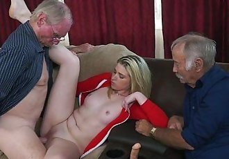 Grandpas Educating Young Girl Through Experience HD