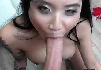 Luscious Asian GF Brenna Sparks Gets Dicked Down