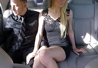 Blonde and skinny Molly Mae gets fucked by Lover inside dudes car